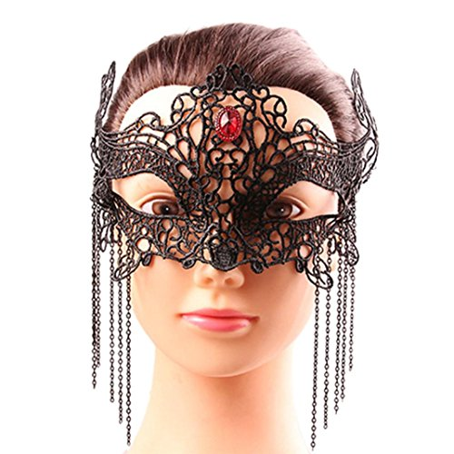 Face Mask, Gotd Pretty Masquerade Lace Mask Cut Prom Party Mask Accessories (Black)