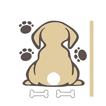 Sedeta Ventana del coche universal reflexivo limpiaparabrisas Etiqueta del perro movible muestra lindo: Amazon.es: Coche y moto