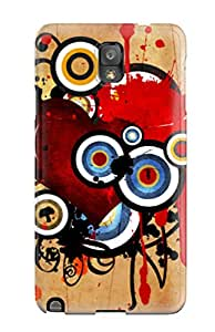 9253319K33134055 Awesome Defender Tpu Hard Case Cover For Galaxy Note 3- Heart Vector Design