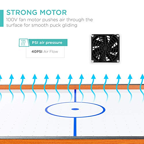 Powerful Electric Fan 2 Pucks for Game Room Living Room Air Hockey Table Accessories Sets with 100V Motor 2 Strikers