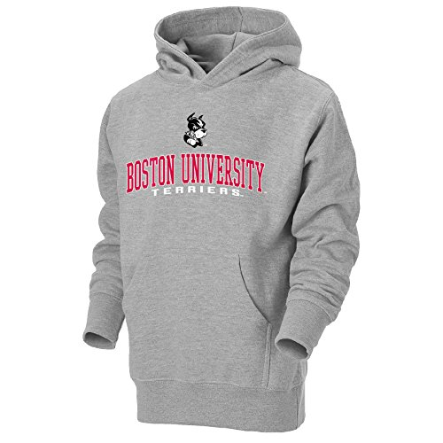 NCAA Boston University Terriers Youth Go-To Hoodie, Large, Oxford (Youth University)