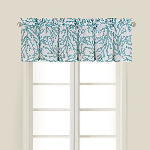 C&F Home Cora Blue Valance 15.5x72 - Coastal Theme (Beachy Treatments Window)
