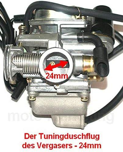 Tuning VERGASER 24mm E-Choke ANSAUGSTUTZEN f/ür KYMCO Quad Bike MXER People S 150 Unbranded