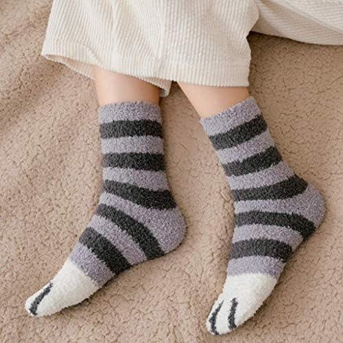 5 pairs Winter Cat Claws Cute Thick Warm Sleep Floor Socks Warm Soft Winter Gift