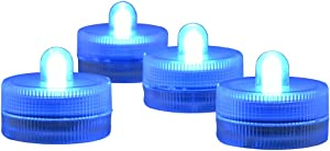 Submersible LED Lights cr2032 Battery Powered Underwater Waterproof LED Tea Light Candles for Events Wedding Centerpieces Vase Floral Xmas Holidays Home Decor Lighting(Pack of 12) (Blue)