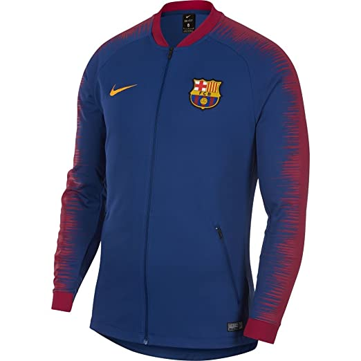 51b095667 Amazon.com  NIKE FC Barcelona Anthem Men s Soccer Jacket  Clothing