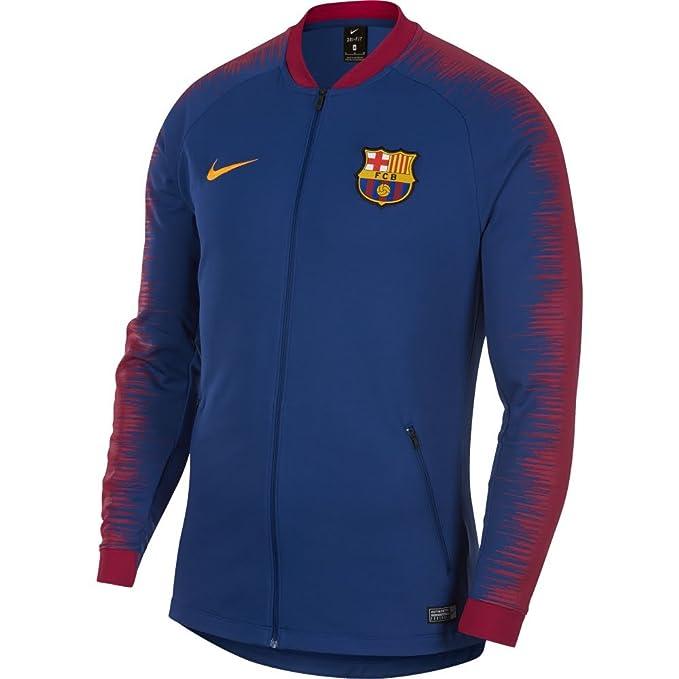 finest selection 84bdb fa913 Amazon.com: NIKE 2018-2019 Barcelona Anthem Jacket (Blue ...