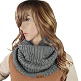 Knit Infinity Loop Scarf, Thick Warm Circle Wrap For The Winter Grey By Debra Weitzner