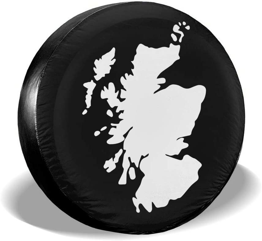 Belleeer Spare wheel cover Scotland Map Tire Covers Car SUV Camper Auto Spare Tire Tyre Cover
