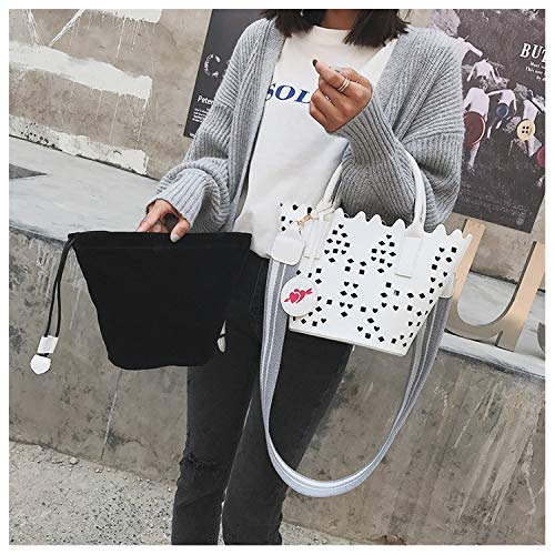 Borsa in borsa a bella Colore di YY4 tracolla viaggio borsa donne Nero per PU secchiello tracolla marrone borsa le a ragazze tracolla pelle delle r0q1zx7Xrn