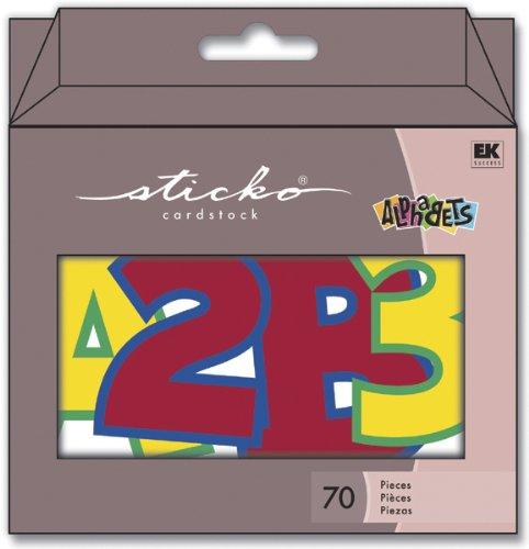 EK Success Cardstock ABC/123 Tote 70/Package, Primary