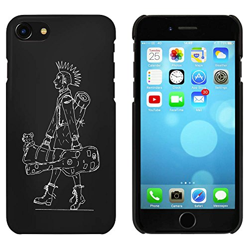 Noir 'Guitariste Punk' étui / housse pour iPhone 7 (MC00061571)