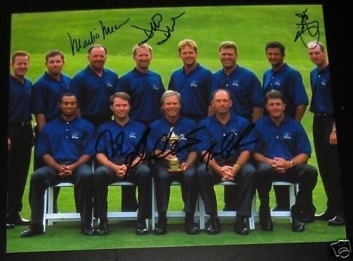 (RYDER CUP 99 TEAM SIGNED AUTOGRAPH PHOTO DUVAL FURYK +6)