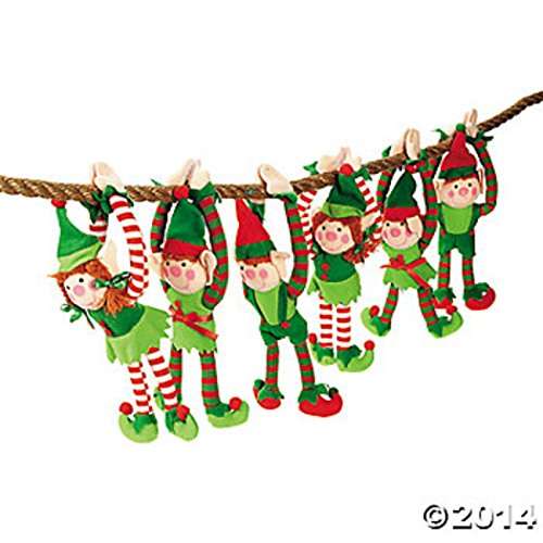 Best Original Halloween Costume Ideas 2016 (Christmas Gift ,6 PLUSH LONG ARM ELVES girl and boys ELF CHRISTMAS GIFTS DECORATIONS HANGINGS)