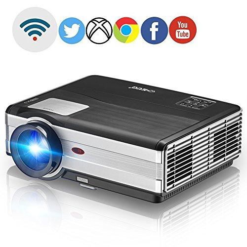 Wireless LED LCD 1080p Projector - Home Cinema Theater Mu...