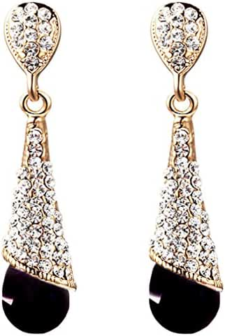 Calors Vitton Mother's Day Gifts Gold Plated Full Rhinestone Classical Long Drop Earrings for Lady