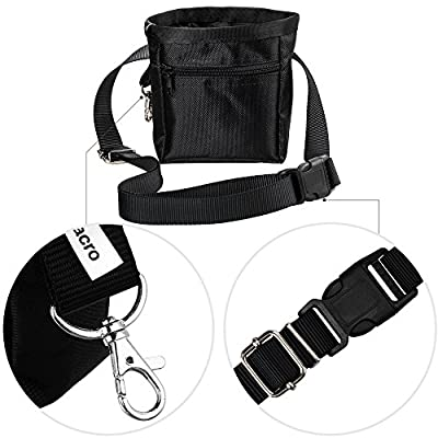 Zacro Dog Treat Training Pouch Bag with Adjustable Strap£¬ One Training Clicker and One Food Water Bowl