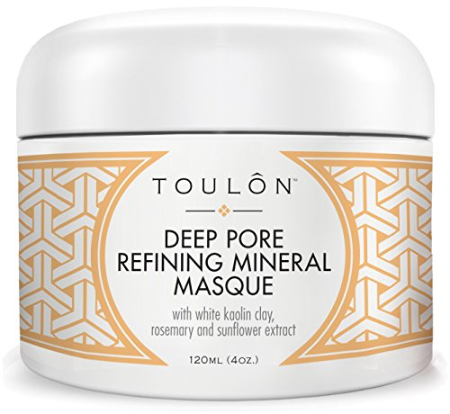 Clay Face Mask with White Kaolin Mineral Clay. Reduces Fine Lines, Rids Blackheads, Acne & Dirt & Improves Complexion. Free Gift/No Risk (Super Start Vitamin Pack compare prices)