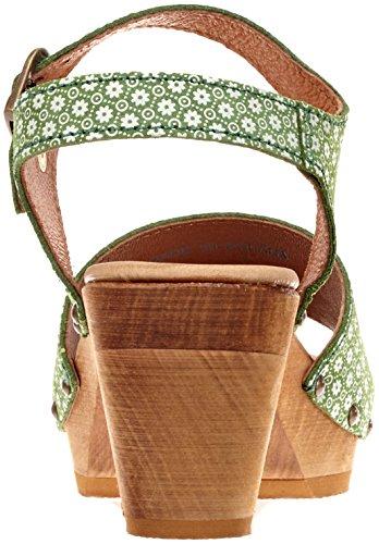 Donna Alla Verde 25 Square Sandali Caviglia Sanita Con green Cinturino Sybil xnP0qwCUWg