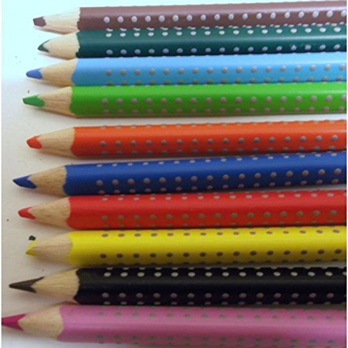 Faber-Castell Eraseable Colour Pencils Grip Set of 10 B01A00BV6Q