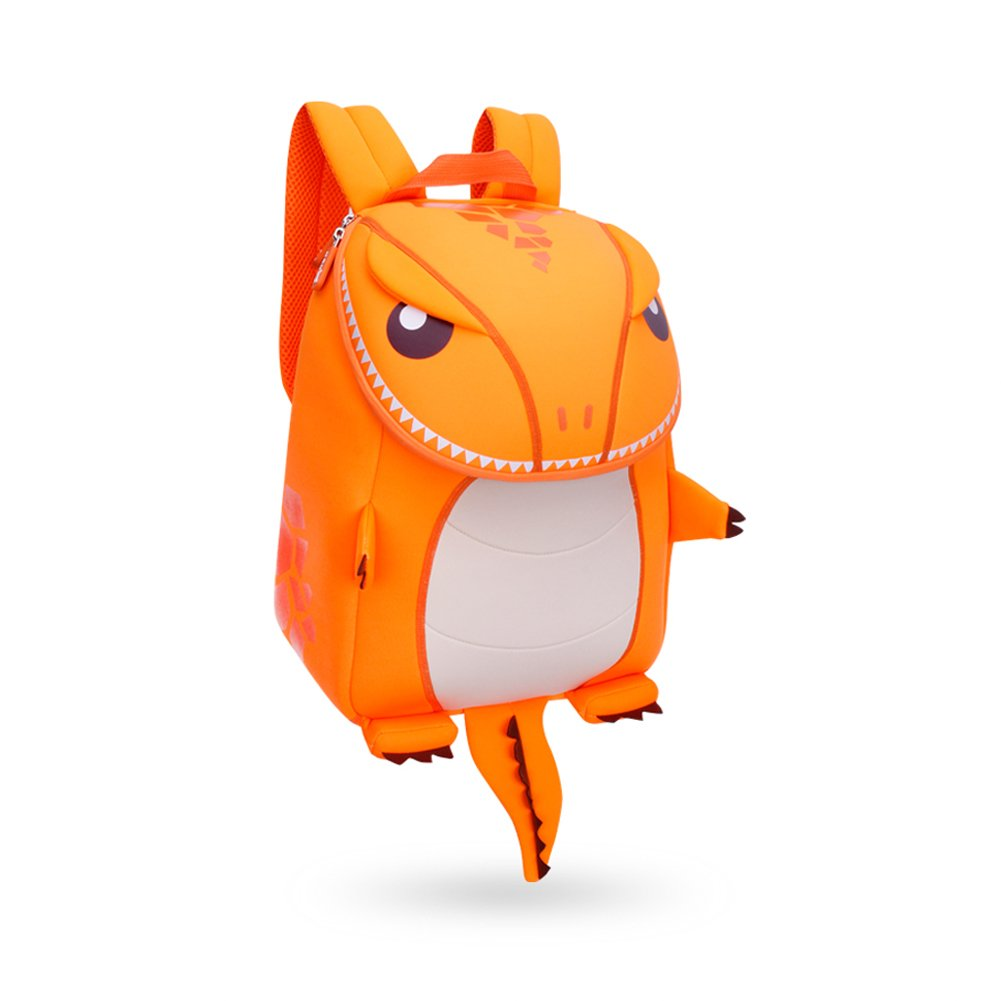 [Coavas]Coavas Kids Backpack Girls Primary School Book Bags, Cute Orange Dinosaur Christmas Gift for 2 8 Y Kids [並行輸入品] School Size Orange B01NA8R6FJ