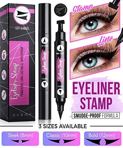 Quick Simple Halloween Makeup Ideas (Eyeliner Stamp, Black, Waterproof, Smudge Proof, Winged Long Lasting Liquid Eye Liner Pen, Vamp Style Wing, 2 Pens in a Pack - 10 mm - Special formula 100% Vegan, and)