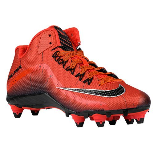 Mens Nike Alpha Pro 2 Football Cleat (10, Orange Black)