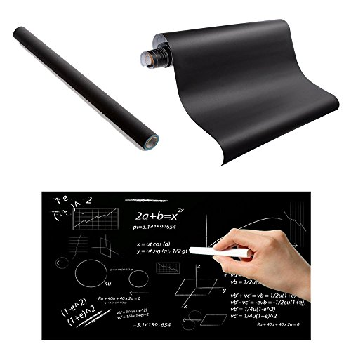 Erasable Extra Large Chalkboard Sticker Self Adhesive Wall Sticker Decal 78.7 X 17.7 Inches With 5 (Make Your Own Water Bottle Labels)