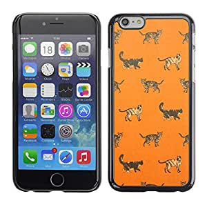 Planetar® ( House Cat Kitten Orange Pattern Cute ) Apple iPhone 6 Plus(5.5 inches)Fundas Cover Cubre Hard Case Cover