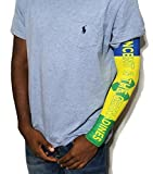 BUNFIREs St vincent and the Grenadines Vincy Flag Rasta Arm or Calf Sleeve Medium size 1 Sleeve For Men Women Sunblock Cooler Protective Sports