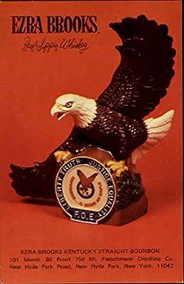 Vintage Advertising Postcard: Ezra Brooks Kentucky Straight Bourbon Advertising