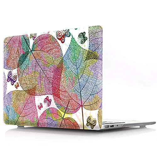 HRH Beautiful Heart Shaped Leaf Design Laptop Body Shell Protective Hard Case for Apple MacBook Newest Air 13