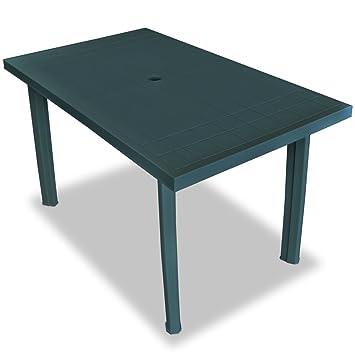 vidaXL Table de Jardin 126 x 76 x 72 cm Plastique Vert