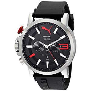 PUMA Men's PU103981001 Ultrasize Stainless Steel Left-Handed Watch