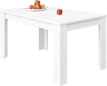 COMIFORT Mesa de Comedor- Mueble Extensible, de Estilo Moderno, Muy Resistente, con Medidas de 140/190 x 90 x 78 cm, Fabricado en Europa, Color Blanco: Amazon.es: Hogar