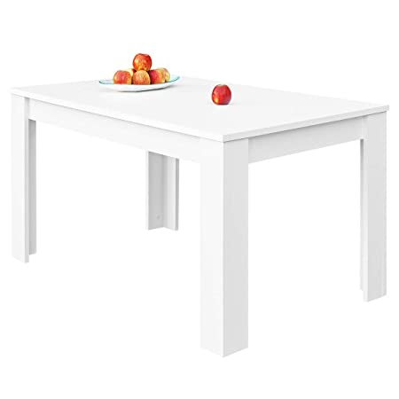 COMIFORT T24B – Mesa De Comedor Extensible Moderna de 140 a 190 cm, Medidas  140/190x90x78 cm, Disponible en Colores: Blanca, Blanco/Roble, Roble, ...