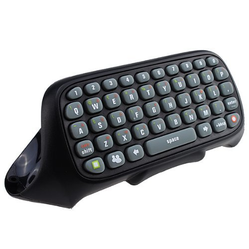 versiontech-wireless-text-messenger-game-gaming-controller-keyboard-chatpad-keypad-for-xbox-360-blac