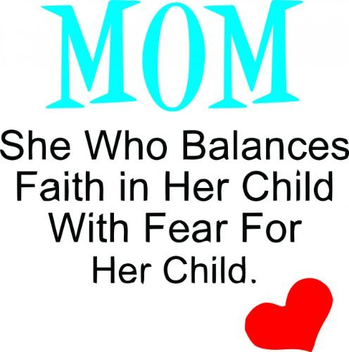 Mom She Who Balances Faith In Her.. - Wall Sticker Picture Art - Living Room - Home Decor Sticker - Vinyl Wall Decal - 22 Colors Available