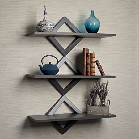 Diamond Shape Back Wall Shelf Indoor