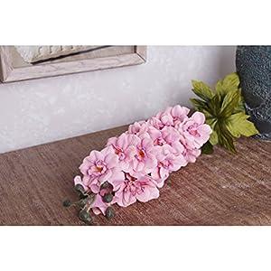 HOBULL 5Pcs Artificial Silk Fake Flowers Delphinium Artificial Silk Decoration Flowers Artificial Arrangement For Wedding Home Decor 23