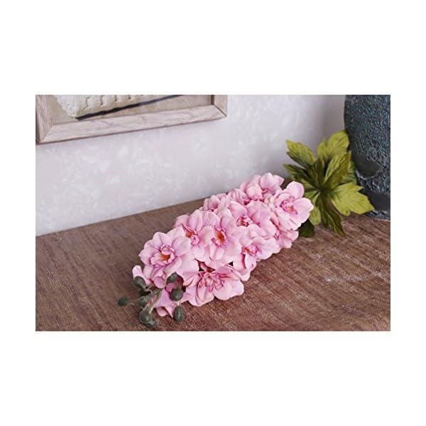 HOBULL-5Pcs-Artificial-Silk-Fake-Flowers-Delphinium-Artificial-Silk-Decoration-Flowers-Artificial-Arrangement-For-Wedding-Home-Decor