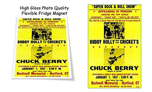 Buddy Holly Chuck Berry 1957 Concert Poster 3