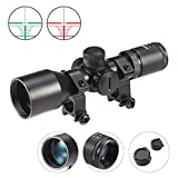 Crossbow Gun with Scope - Hiram 3-9x40 Tactical Rifle Scope with Rangefinder Reticle Green Coat Waterproof