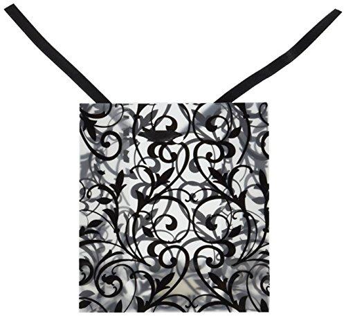 Frosted White Bag - FROSTED BLACK & WHITE DESIGN BAGS (4 DOZEN) - BULK