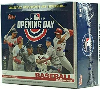 2019 Topps Opening Day Baseball Cards Hobby Box Of 36 Packs 252 Cards