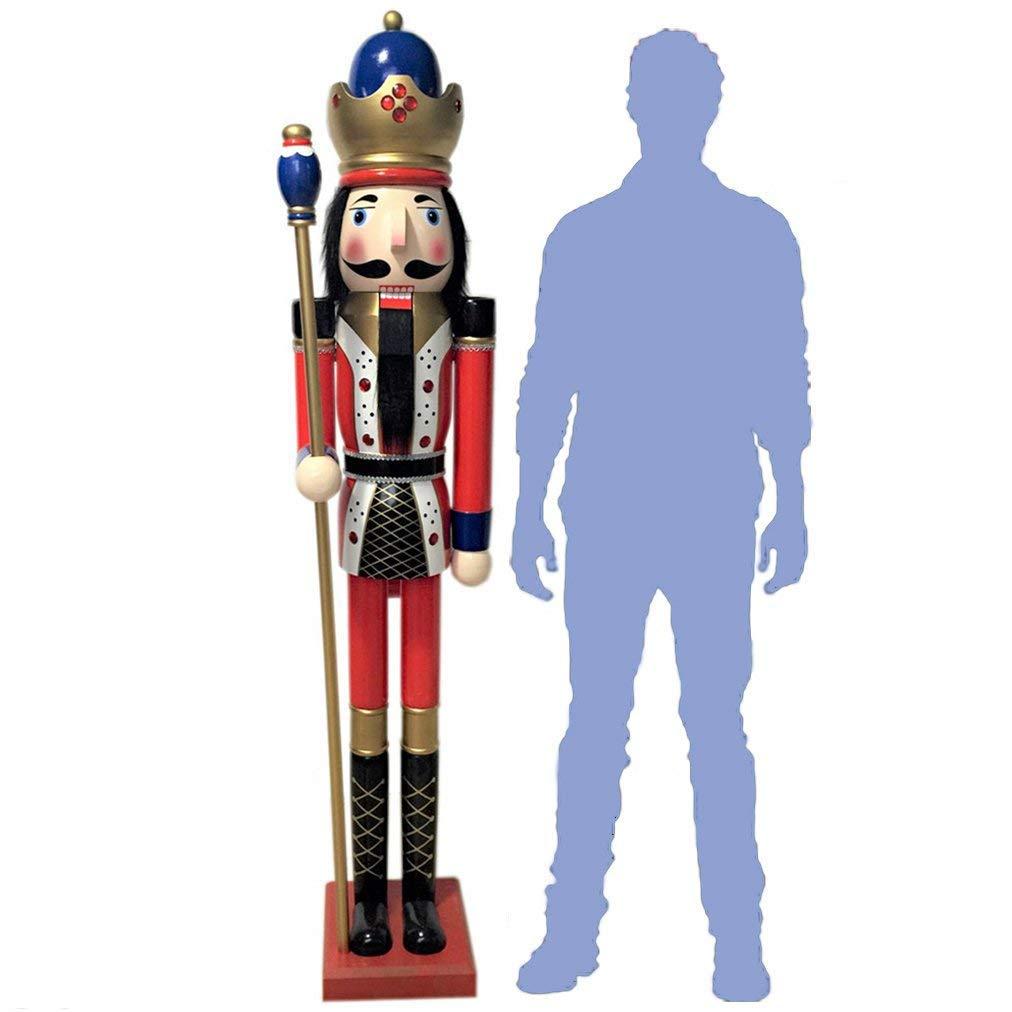 CDL 6 Feet Tall Christmas Wooden Nutcracker King 011
