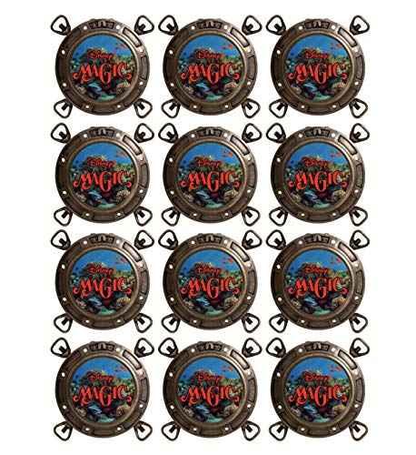 Disney Wonder Halloween Cruise (12 Disney Cruise Gift Magnets, 12 Fish Extender Gifts, FE Disney Dream, Fantasy, Magic, Wonder Gift, DCL Porthole Gift)