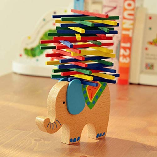 Best Quality - Blocks - Baby Wooden Toy Educational Elephant/Camel Balancing Blocks Wooden Toys Beech Wood Balance Game Blocks Gift for Child - by Viet SF - 1 Pcs