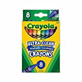 Crayola 8 Washable Crayons, School and Craft Supplies, Gift for Boys and Girls, Kids, Ages 3,4, 5, 6 and Up, Back to school, School supplies, Arts and Crafts,  Gifting
