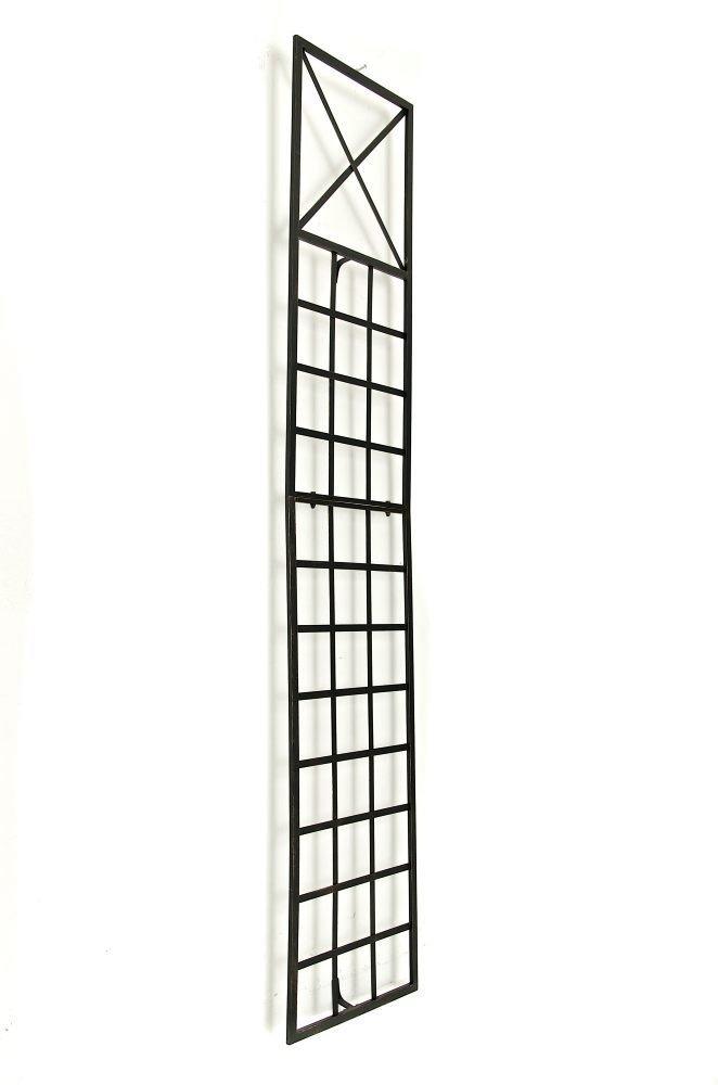 CLP Graticcio per Piante Rampicanti Trigo in Ferro Graticolato per Piante 198 x 40 cm Griglia per Piante Rampicanti da Giardino Bronzo Traliccio per Rampicanti da Fissare alla Parete